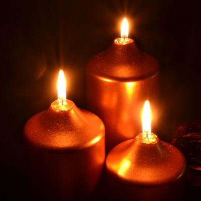 리모컨으로 컬러선택 가능한 촛불 조명 3pcs